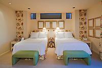 Interior of twin bedroom
