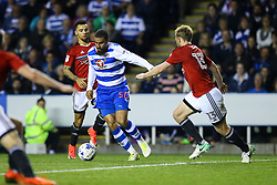 Lewis Grabban of Reading on the attack - Mandatory by-line: Jason Brown/JMP - 16/05/2017 - FOOTBALL - Madejski Stadium - Reading, England - Reading v Fulham - Sky Bet Championship Play-off Semi-Final 2nd Leg