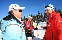 Primoz Ulaga of SZS and coach of Petra Majdic Ivan Hudac at 10th OPA - Continental Cup 2008-2009, on January 17, 2009, in Rogla, Slovenia.  (Photo by Vid Ponikvar / Sportida)