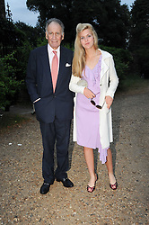 BARON THIERRY VAN ZUYLEN and his daughter ALLEGRA leaving a summer party hosted by Lady Annabel Goldsmith at her home Ormeley Lodge, Ham Gate, Richmond on 13th July 2010.