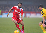 Crawley's Gavin Tomlin on the ball during the Sky Bet League 1 match between Crawley Town and Sheffield Utd at the Checkatrade.com Stadium, Crawley, England on 28 February 2015. Photo by Phil Duncan.