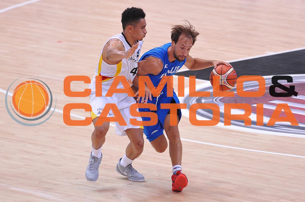 DESCRIZIONE : Trento Nazionale Italia Uomini Trentino Basket Cup Italia Germania Italy Germany <br /> GIOCATORE : Giuseppe Poeta<br /> CATEGORIA : palleggio<br /> SQUADRA : Italia Italy<br /> EVENTO : Trentino Basket Cup<br /> GARA : Italia Germania Italy Germany<br /> DATA : 01/08/2015<br /> SPORT : Pallacanestro<br /> AUTORE : Agenzia Ciamillo-Castoria/A.Scaroni<br /> Galleria : FIP Nazionali 2015<br /> Fotonotizia : Trento Nazionale Italia Uomini Trentino Basket Cup Italia Germania Italy Germany