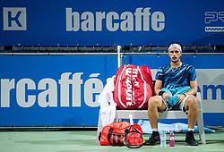 Gian Marco Moroni (ITA) playing Quarterfinal Singles during Day 7 at ATP Challenger Zavarovalnica Sava Slovenia Open 2018, on August 9, 2018 in Sports centre, Portoroz/Portorose, Slovenia. Photo by Vid Ponikvar / Sportida