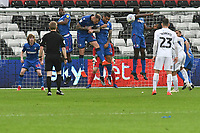 Football - 2018 / 2019 Sky Bet EFL Championship - Swansea City vs. Bolton Wanderers<br /> <br /> The Bolton wall keeps out a swansea free kick , at The Liberty Stadium.<br /> <br /> COLORSPORT/WINSTON BYNORTH