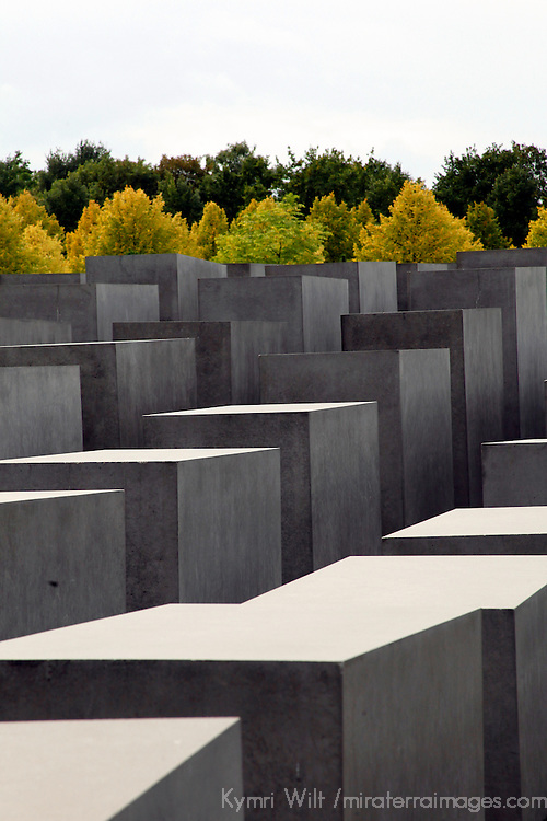 Europe, Germany, Berlin.  Memorial to the Murdered Jews of Europe.