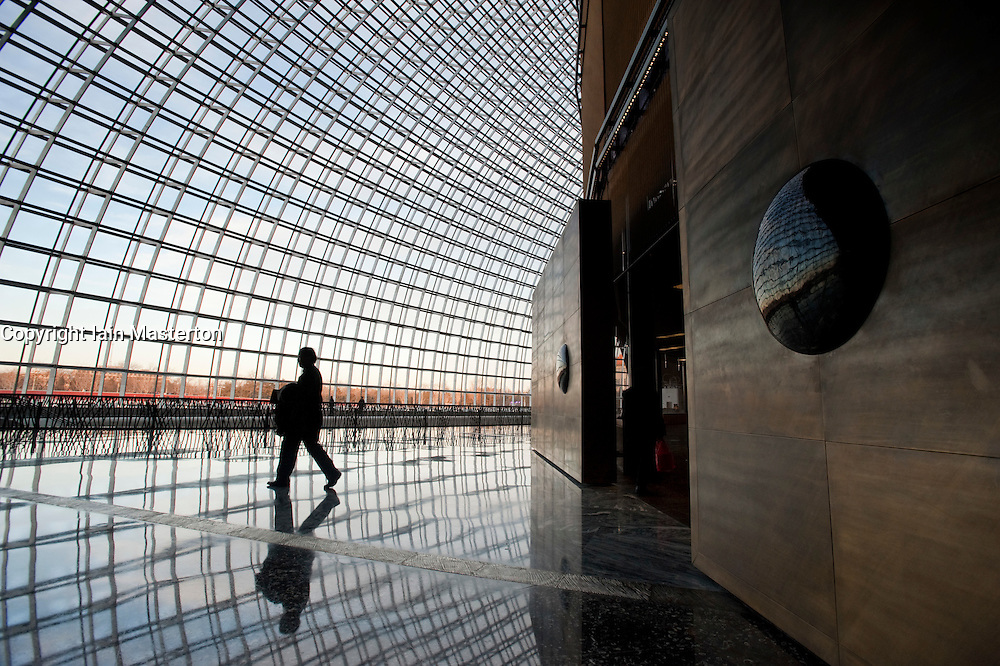 The new National Grand Theatre in Beijing designed by architect Paul Andreu 2009