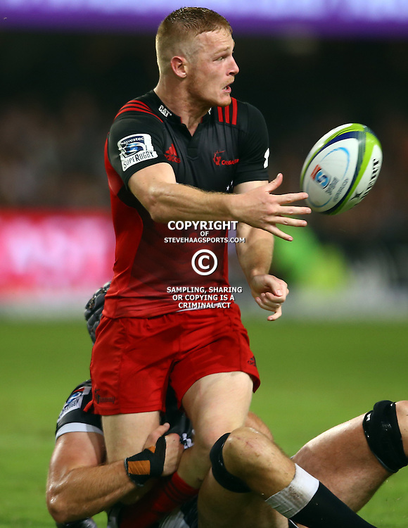 DURBAN, SOUTH AFRICA - MARCH 26: of the BNZ Crusaders during the Super Rugby match between Cell C Sharks and BNZ Crusaders at Growthpoint Kings Park on March 26, 2016 in Durban, South Africa. (Photo by Steve Haag/Gallo Images)