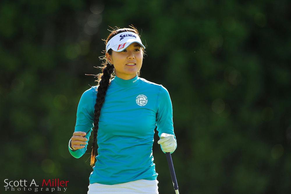 Ayaka Kaneko during the final round of the Symetra Tour's Guardian Retirement Championship at Sara Bay in Sarasota, Florida April 28, 2013. ..©2013 Scott A. Miller