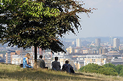 © Licensed to London News Pictures. 27/08/2013<br /> London weather today (27.08.2013) <br /> People enjoying the sunny weather at Greenwich Park,Greenwich,South London.<br /> Photo credit :Grant Falvey/LNP