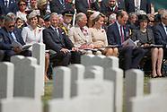 Kate, Charles, Will, Belgian Royals - Tyne Cot Cemetery, Belgium