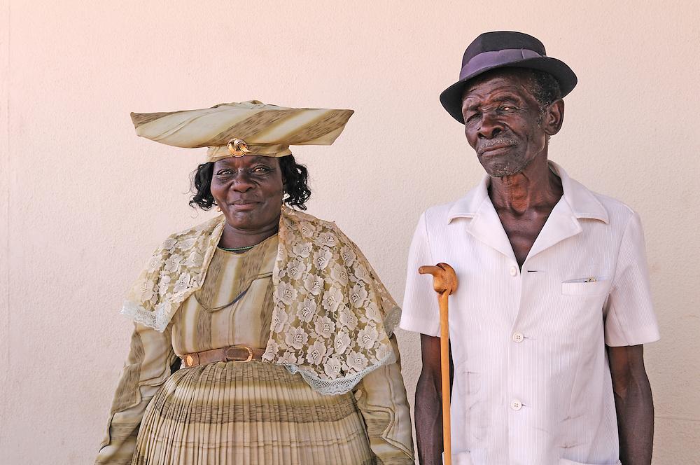Herero couple, Grootfontein, Otjozondjupa Region, Namibia