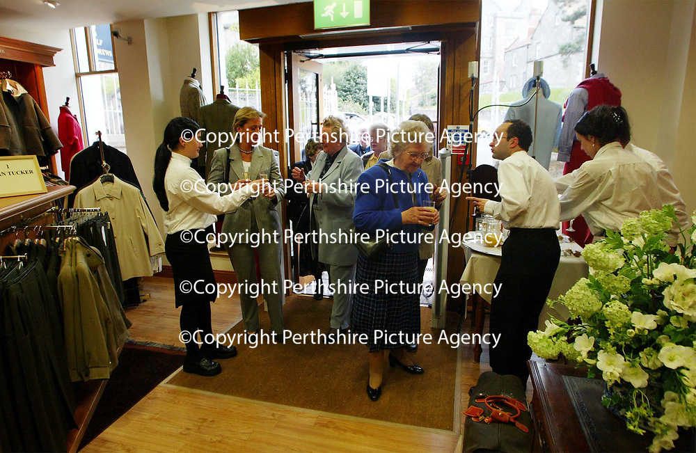 Guests arriving for the opening of Golf St Andrews shop, a joint venture between the House of Bruar and the R&amp;A<br />