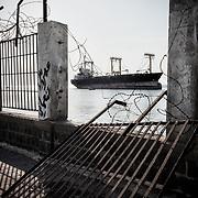 Bateau dans le port d'Aden, le 17 juin 2017.