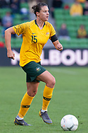 MELBOURNE, VIC - MARCH 06: Emily Gielnik (15) of Australia controls the ball during The Cup of Nations womens soccer match between Australia and Argentina on March 06, 2019 at AAMI Park, VIC. (Photo by Speed Media/Icon Sportswire)