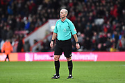 Referee Mike Dean during the Premier League match between Bournemouth and Tottenham Hotspur at the Vitality Stadium, Bournemouth, England on 11 March 2018. Picture by Graham Hunt.