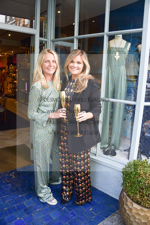 Left to right, Maddie Chesterton and Lucia Dailey at the Seren London Launch Party held at Baar And Bass, 336 Kings Road, London England. 26 April 2017.