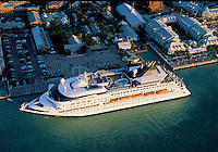 Aerial photograph Cruise Ship docked  of Key West, Florida