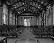 Michael McKee (rmm316@ksu.edu), sophomore in Animal Science, studies at the far table in the South end of the Great Room of Hale Library on September 22, 2015. <br /> <br /> Toyo 45 Large Format Camera<br /> ISO 400, f/28* 1 sec. <br /> (Photo by Evert Nelson | evertnelson.com)