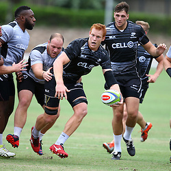 DURBAN, SOUTH AFRICA, Monday 11,January 2016 - Phillip van der Walt during The Cell C Sharks Pre Season training Monday 11th January 2016,for the 2016 Super Rugby Season at Growthpoint Kings Park in Durban, South Africa. (Photo by Steve Haag)<br /> images for social media must have consent from Steve Haag