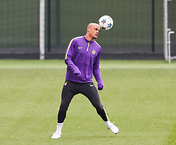 Manchester City's Kompany is pictured during the training session at the Etihad Campus ahead of the UEFA Champions League second leg match against FC Barcelona - Photo mandatory by-line: Matt McNulty/JMP - Mobile: 07966 386802 - 17/03/2015 - SPORT - Football - Manchester - Etihad Campus - Barcelona v Manchester City - UEFA Champions League