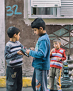 16/10/2013 - Istanbul - Tarlabasi area - I found out that young boys just love to play with plastic guns.