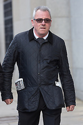 © Licensed to London News Pictures. 21/03/2014. London, UK. Ted Terry (real name Edward Terry) arrives at the Old Bailey in London this morning, 21st March 2014. Ted Terry, the father of Chelsea footballer John Terry is accused alongside Tudor Musteata and Stephen Niland of assaulting Amarijit Talafair after drinking in a pub after work in the City of London on 22nd March 2013.   Photo credit : Vickie Flores/LNP