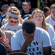 THURSDAY, FEBRUARY 15- 2018---CORAL SPRINGS, FLORIDA--<br /> A community prayer vigil  at Parkridge Church for  Marjory Stoneman Douglass High School shooting one day after a mass shooting with 17 casualties.<br /> (Photo by Angel Valentin/FREELANCE)