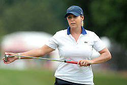June 16, 2018 - Belmont, Michigan, United States - Cristie Kerr of the United Stated lines up her putt on the 9th green during the third round of the Meijer LPGA Classic golf tournament at Blythefield Country Club in Belmont, MI, USA  Saturday, June 16, 2018. (Credit Image: © Jorge Lemus/NurPhoto via ZUMA Press)