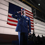 A portrait of Commander elect Col. Donald R. Bevis of the 166th Airlift Wing unit Saturday, May 02, 2015, at New Castle Air National Guard Base main hangar in New Castle Delaware.
