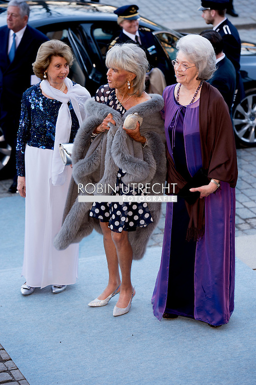 29-4-2016 STOCKHOLM -Princess Birgitta, Princess Desiree and Princess Margaretha of Sweden   The Royal Swedish Opera and Stockholm Concert Hall will give a concert &ndash; The Nordic Museum, Arrival of guests. celebration of The King&rsquo;s 70th birthday  King Carl Gustaf, Queen Silvia, Crown Princess Victoria, Prince Daniel, Prince Carl Philip, Princess Madeleine and Chris O&rsquo;Neill arrive at the Nordic museum for the concert by the Royal Swedish Opera and Stockholm Concert on the occasion of the 70th birthday of The Swedish King in Stockholm, Sweden, 29 April 2016 COPYRIGHT ROBIN UTRECHT<br /> 29-4-2016 STOCKHOLM - De Scandinavische Museum, Aankomst van de gasten - De Koninklijke Zweedse opera en Stockholm Concert Hall zal een concert geven. viering van The King's 70ste verjaardag van koning Carl Gustaf, Koningin Silvia, kroonprinses Victoria, Prins Daniel, prins Carl Philip, prinses Madeleine en Chris O'Neill komen op de Nordic museum voor het concert van de Koninklijke Zweedse opera en Stockholm Concert ter gelegenheid van de 70ste verjaardag van de Zweedse koning in Stockholm, Zweden, 29 april 2016 COPYRIGHT ROBIN UTRECHT