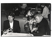 Mick Jagger, Madonna & Tony Curtis at the Vanity Fair Oscar Night Party. Mortons. Los Angeles. 24 March 1997
