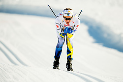 January 31, 2018 - Goms, Switzerland -  Eddie Edstrom of Sweden competes in the men's 15km classic technique interval start during the FIS U23 Cross-Country World Ski Championships on January 31, 2018 in Obergoms. (Credit Image: © Vegard Wivestad Gr¯Tt/Bildbyran via ZUMA Press)