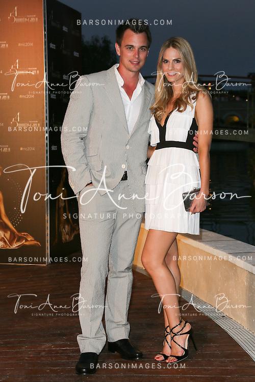 MONTE-CARLO, MONACO - JUNE 09:  Darin Brooks and girlfriend attend a Party at the Monte Carlo Bay Hotel on June 9, 2014 in Monte-Carlo, Monaco.  (Photo by Tony Barson/FilmMagic)