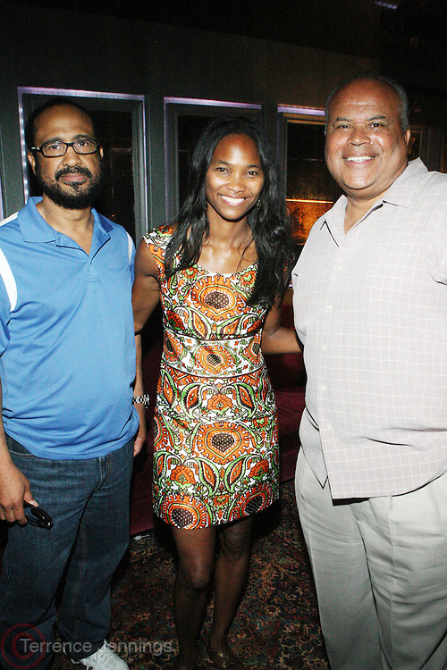 26 June 2010- South Beach, Miami, Fla- l to r: Steve Duncan, Nicole Friday and Steve Gilmer at the American Black Film Festival's Pro Hollywood Initiative Luncheon held at The Betsy Hotel on June 26, 2010 in South Beach, Miami Florida. Photo Credit: Terrence Jennings/Sipa..**exclusive**