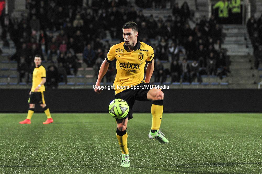 Jonathan Delaplace  - 17.01.2015 - Lorient / Lille - 21eme journee de Ligue 1 <br /> Photo : Phillipe Le Brech / Icon Sport