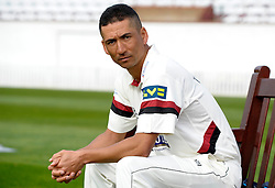 Somerset's Alfonso Thomas  - Photo mandatory by-line: Harry Trump/JMP - Mobile: 07966 386802 - 17/03/15 - SPORT - Cricket - Somerset Press Call - The County Ground, Taunton, England.