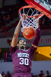 NORMAL, IL - January 07: Tulio Da Silva open for a dunk during a college basketball game between the ISU Redbirds and the University of Missouri State Bears on January 07 2020 at Redbird Arena in Normal, IL. (Photo by Alan Look)