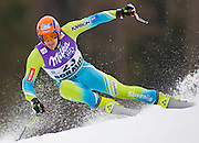 BORMIO ITALY 14 MAR 08 GORZA Ales (SLO) competing in the Audi FIS Alpine Skiing World Cup