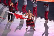 PYEONGCHANG-GUN, SOUTH KOREA - FEBRUARY 09: Athletes of Tonga during the Opening Ceremony of the PyeongChang 2018 Winter Olympic Games at PyeongChang Olympic Stadium on February 9, 2018 in Pyeongchang-gun, South Korea. Photo by Nils Petter Nilsson/Ombrello     ***BETALBILD***