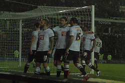 Derby Celebrate after Chris Martins Equaliser from the Penalty Spot,   Derby County v Brighton &Hove Albion, IPro Stadium, Sky Bet Championship,  Saturday 12th December 2015