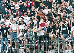07.05.2011, Commerzbank-Arena, Frankfurt, GER, 1. FBL, Eintracht Frankfurt vs 1.FC Koeln, im Bild mit Stangen bewaffnete Chaoten, EXPA Pictures © 2011, PhotoCredit: EXPA/ nph/  Roth       ****** out of GER / SWE / CRO  / BEL ******