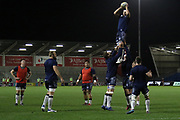 Warm up before the Aviva Premiership match between Sale Sharks and Gloucester Rugby at the AJ Bell Stadium, Eccles, United Kingdom on 29 September 2017. Photo by George Franks.