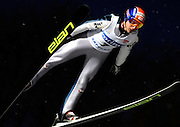 BASTIAN KALTENBOECK of Austria  soars through the air during the FIS World Cup Ski Jumping in Sapporo, northern Japan in February, 2008.