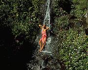 Woman in Waterfall, Hawaii, USA<br />