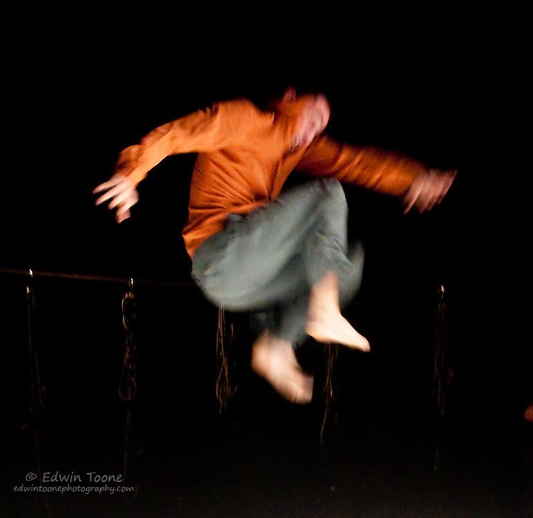 Maxime jumping
