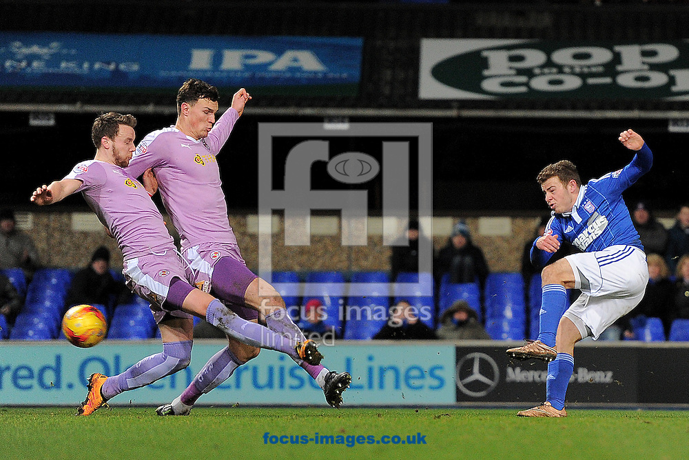 Ryan Fraser of Ipswich Town scores his sides first goal to make the scoreline 1-0 during the Sky Bet Championship match between Ipswich Town and Reading at Portman Road, Ipswich<br /> Picture by Richard Blaxall/Focus Images Ltd +44 7853 364624<br /> 02/02/2016