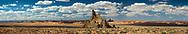 Church Rock, Kayenta, Arizona, El Capitan in background, near Monument Valley