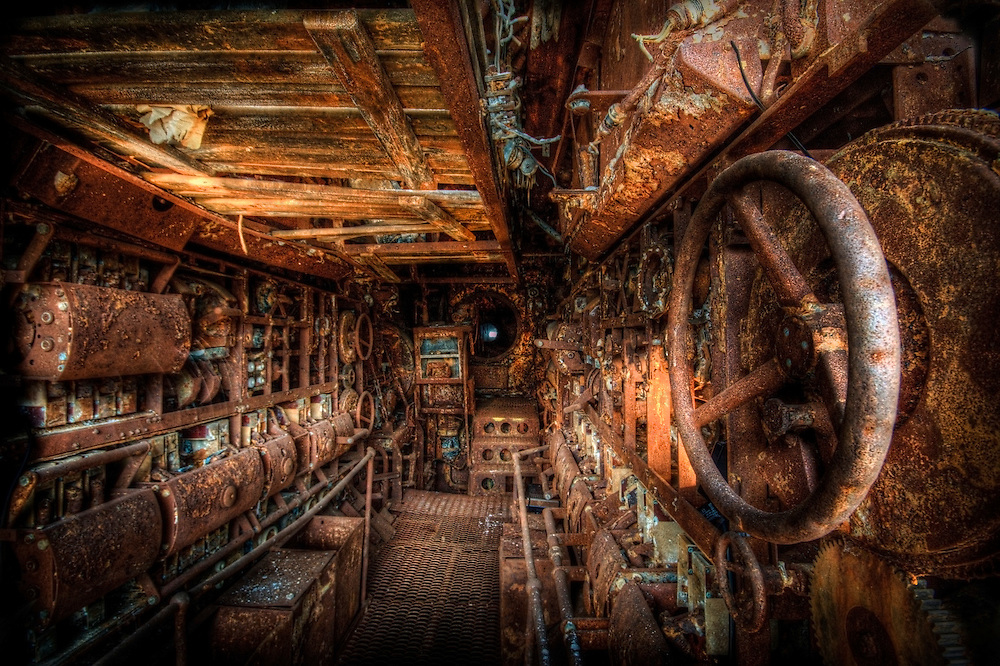 U-Boat U-534 Engine room and workshop