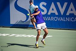 Tomas Lipovsek Puches (SLO) during ATP Challenger Zavarovalnica Sava Slovenia Open 2019, day 6, on August 14th 2019 in Sports centre, Portoroz/Portorose, Slovenia. Photo by Grega Valancic / Sportida