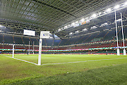 The Millennium Stadium before the Rugby World Cup Quarter Final match between Ireland and Argentina at Millennium Stadium, Cardiff, Wales on 18 October 2015. Photo by Shane Healey.